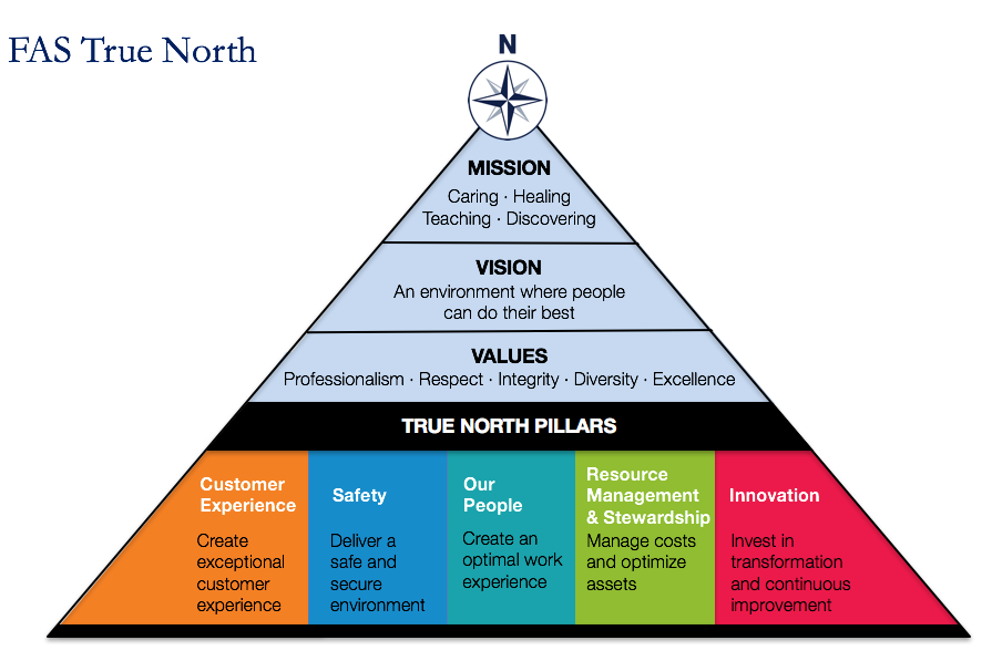 FAS True North image which explains the how, what and why of FAS strategic priorities. Click the image to go to the FAS website to find out more information.